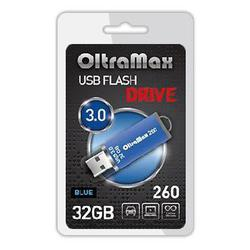 OltraMax 260 32Gb (синий) - USB Flash driveUSB Flash drive<br>Флэш-накопитель объемом 32Гб, интерфейс USB 3.0.