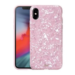 Чехол-накладка для Apple iPhone XS (LAUT PERAL GLITTER LAUT_IP18-S_PL_P) (розовый) - Чехол для телефонаЧехлы для мобильных телефонов<br>Чехол плотно облегает корпус и гарантирует надежную защиту от царапин и потертостей.