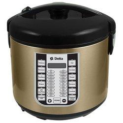 Мультиварка DELTA DL-6518 - МультиваркаМультиварки<br>Мультиварка DELTA DL-6518 - мультиварка, 5 л, 900 Вт, электронная, мультиповар, молочная каша, жарка, приготовление на пару, выпечка, тушение, йогурт, паста, крупа, поддержание тепла, отложенный старт, регулировка времени приготовления