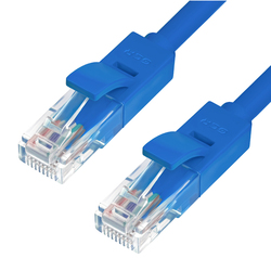 Патч-корд UTP кат. 6, RJ45 0.2м (Greenconnect GCR-LNC601-0.2m) (синий)