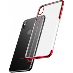 Чехол накладка для Apple iPhone Xs (Baseus Shining ARAPIPH58-MD09) (красный) - Чехол для телефонаЧехлы для мобильных телефонов<br>Baseus Shining — это ультратонкая прочная накладка на заднюю часть смартфона iPhone Xs, призванная обеспечить высококлассную защиту и добавить ему элегантности. Аксессуар идеально подогнан под габариты коммуникатора и имеет накладки для кнопок управления, а также вырезы в местах динамиков, разъемов, камеры и датчиков.