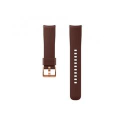Ремешок для Samsung Galaxy Watch 42мм (ET-YSU81MAEGRU) (коричневый) - Ремешок для умных часовРемешки для умных часов<br>Теперь сменить ремешок на ваших часах стало проще простого. Просто нажмите на специальные кнопки на ваших часах и выньте ремешок из крепежа.