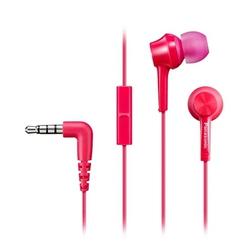 Panasonic RP-TCM115GC (красно-розовый) - НаушникиНаушники и Bluetooth-гарнитуры<br>Наушники с микрофоном, вставные (затычки), чувствительность 109 дБ/мВт, импеданс 16 Ом, разъем mini jack 3.5 mm.