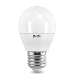 Gauss LED Elementary Globe 8W E27 6500K - ЛампочкаЛампочки<br>Светодиодная лампочка, цоколь E27, мощность 8Вт, тип: шар.