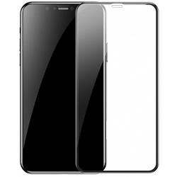 Защитное стекло для Apple iPhone Xs Max (Baseus Full Coverage Anti Blue Light Glass SGAPIPH65-HE01) (черный) - ЗащитаЗащитные стекла и пленки для мобильных телефонов<br>Baseus Full Coverage Anti Blue Light Glass — это стекло повышенной прочности, созданное специально для защиты экрана Apple iPhone Xs Max. Оно имеет закругленные края, точно повторяющие фактуру смартфона, а также рамку выполненную в черном цвете. Стекло обладает глянцевой поверхностью и идеально передает цвета экрана без искажений.