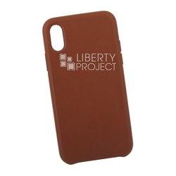 Чехол накладка для Apple iPhone XS (0L-00040564) (коричневый) - Чехол для телефонаЧехлы для мобильных телефонов<br>Предназначен для защиты мобильного телефона от пыли, грязи, царапин и другого негативного воздействия внешних факторов.