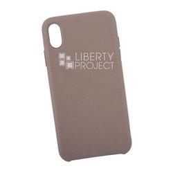 Чехол накладка для Apple iPhone XS Max (0L-00040575) (серый) - Чехол для телефонаЧехлы для мобильных телефонов<br>Предназначен для защиты мобильного телефона от пыли, грязи, царапин и другого негативного воздействия внешних факторов.