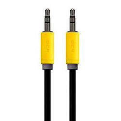 Кабель Jack 3.5 - Jack 3.5 (Greenconnect GCR-AVC8114-1.5m) (черный) - Кабель, разъем для акустической системыКабели и разъемы для акустических систем<br>GCR Кабель аудио 1.5m, нейлон, черный, желтая окантовка, ультрагибкий, 28 AWG, AM/AM, Premium, экран, стерео.