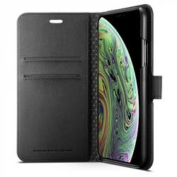 3fd8f774053d Чехол книжка для Apple iPhone Xs (Spigen Wallet S 063CS25120) (черный)