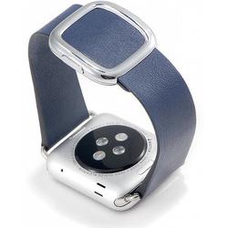 Ремешок для Apple Watch 38mm (COTEetCI W5 Nobleman WH5200-DB) (синий) - Ремешок для умных часовРемешки для умных часов<br>COTEetCI W5 Nobleman WH5200-DB представляет собой стильный, оригинальный ремешок для смарт-часов Apple Watch с диагональю дисплея 38 мм. Он выполнен из высококачественной натуральной кожи, которая обладает приятными тактильными свойствами и не натирает запястье. Аксессуар имеет регулируемый размер и оригинальную винтажную застежку. Она надежно удерживает часы на руке и при необходимости позволяет расстегнуть ремень одной рукой.