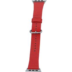 Ремешок для Apple Watch 42, 44mm (COTEetCI W22 WH5233-RD) (красный) - Ремешок для умных часовРемешки для умных часов<br>COTEetCI W22 представляет собой стильный, оригинальный ремешок для смарт-часов Apple Watch с диагональю дисплея 42/44 мм. Он выполнен из высококачественной натуральной кожи, которая обладает приятными тактильными свойствами и не натирает кожу. Аксессуар имеет регулируемый размер и классическую стальную застежку. Она надежно удерживает часы на руке и при необходимости позволяет расстегнуть ремень одной рукой.