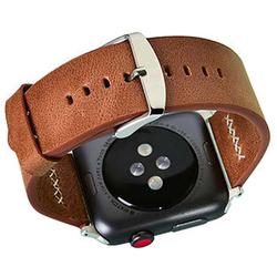 Ремешок для Apple Watch 38, 40mm (COTEetCI W33 WH5256-KR) (коричневый) - Ремешок для умных часовРемешки для умных часов<br>COTEetCI W33 представляет собой стильный оригинальный ремешок для смарт-часов Apple Watch с диагональю дисплея 38/40 мм. Он выполнен из высококачественной натуральной кожи, которая обладает приятными тактильными свойствами и не натирает руку. Аксессуар имеет регулируемый размер и классическую стальную застежку. Она надежно удерживает часы на руке и при необходимости позволяет расстегнуть ремень одной рукой.