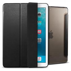 Чехол для Apple iPad Pro 10.5 (Spigen Smart Fold Case 052CS21995) (черный) - Чехол для планшетаЧехлы для планшетов<br>Spigen Smart Fold Case представляет собой стильный и функциональный чехол, являющийся отличным решением для защиты iPad Pro 10.5 от повреждений и загрязнений. Он выполнен в форм-факторе книжки и имеет все необходимые функциональные вырезы для портов и камеры. Специальная конструкция крышки позволяет использовать аксессуар в качестве подставки с разными углами установки, что очень удобно при просмотре мультимедийного контента, работы с текстом или серфинга в интернете.