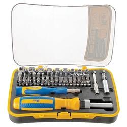 Набор торцевых головок и бит KRAFT KT 700447 - Набор инструментовНаборы инструментов<br>Набор инструментов торцевые головки и биты, количество предметов: 65.