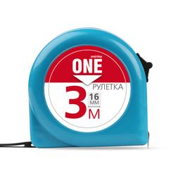 Рулетка Smartbuy One Tools SBT-MTP-316P1 - Измерительный инструментИзмерительный инструмент<br>Рулетка измерительная, 3м х16мм, пластиковый корпус, фиксатор, усиленный зацеп.