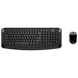 Клавиатура и мышь HP 3ML04AA Wireless Keyboard and Mouse 300 Black USB - Мышь, клавиатура для компьютера и планшетаКлавиатуры, мыши, комплекты<br>Клавиатура и мышь HP 3ML04AA Wireless Keyboard and Mouse 300 Black USB - беспроводные клавиатура и мышь (радиоканал), USB, цвет: черный