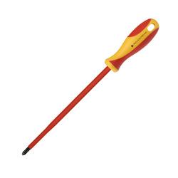 Отвертка Smartbuy Tools SBT-SCI-PH1x150P1 - ОтверткаОтвертки<br>Диэлектрическая отвертка, шлицевая PH1x150, до 1000В, VDE, прорезиненная ручка.