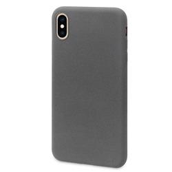 Чехол-накладка для Apple iPhone XS Max (DYP Liquid Pebble DYPCR00177) (темно-серый) - Чехол для телефонаЧехлы для мобильных телефонов<br>Чехол плотно облегает корпус и гарантирует надежную защиту от царапин и потертостей.