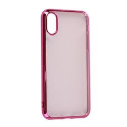 Чехол-накладка для Apple iPhone XS Max (iBox Blaze YT000016114) (розовая рамка) - Чехол для телефонаЧехлы для мобильных телефонов<br>Чехол плотно облегает корпус и гарантирует надежную защиту от царапин и потертостей.