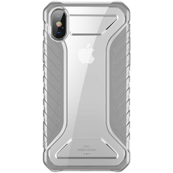Чехол накладка для Apple iPhone Xs Max (Baseus Michelin WIAPIPH65-MK0G) (серый)