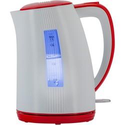 Polaris PWK 1790СL (белый, красный) - ЭлектрочайникЭлектрочайники и термопоты<br>Двусторонняя шкала контроля уровня воды. Безопасное открытие крышки нажатием на кнопку. Съемный фильтр для очистки воды. Внутренняя подсветка. Автоматический и ручной выключатель. Вращающийся корпус на 360.