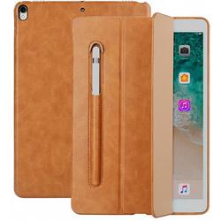 Чехол для Apple iPad Pro 10.5 (Jisoncase PU Leather JS-PRO-31M20) (коричневый) - Чехол для планшетаЧехлы для планшетов<br>Jisoncase PU Leather JS-PRO-31M20 представляет собой стильный и функциональный чехол, являющийся отличным решением для защиты iPad Pro 10.5 от повреждений и загрязнений. Он выполнен в форм-факторе книжки и имеет все необходимые функциональные вырезы для портов и камеры. Специальная конструкция крышки позволяет использовать аксессуар в качестве подставки с разными углами установки, что очень удобно при просмотре мультимедийного контента, работы с текстом или серфинга в интернете.