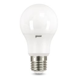 Gauss LED A60-dim E27 11W 3000K - ЛампочкаЛампочки<br>Светодиодная лампа, цоколь E27, мощность 11Вт, форма: A60, степень защиты: IP20, диммируемая.