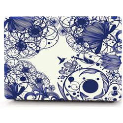 Чехол для Apple MacBook Pro 15 A1707 (i-Blason Cover Blue Line Flowers) - Чехол для ноутбука