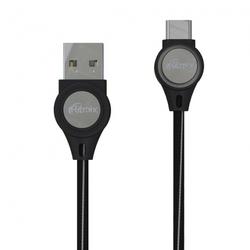 Кабель USB-USB Type-C 1м (Ritmix RCC-439) (черный) - КабелиUSB-, HDMI-кабели, переходники<br>Кабель для зарядки и синхронизации, ток 2А, LED-подсветка, длина 1м.