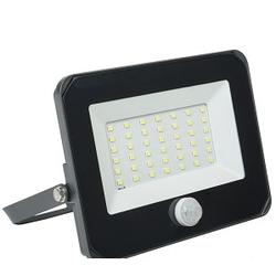 Прожектор СДО 06-50Д (Iek LPDO602-50-65-K02) - Садовый прожекторПрожекторы<br>Прожектор СДО 06-50Д светодиодный. черный с датчиком движения, IP54, 6500K.