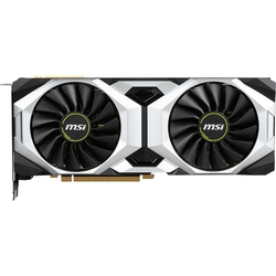 MSI GeForce RTX 2080Ti 1350MHz PCI-E 3.0 11264MB 14000MHz 352 bit HDMI HDCP VENTUS 11G (RTX 2080 Ti VENTUS 11G) RTL - ВидеокартаВидеокарты<br>Видеокарта NVIDIA GeForce RTX 2080 Ti, 11264 МБ видеопамяти GDDR6, частота ядра/памяти: 1350 (1635 Boost)/14000 МГц, разъемы HDMI x1, DisplayPort x3, USB Type-C х1.