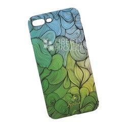 Чехол накладка для Apple iPhone 7 Plus, 8 Plus (KUtiS Rainbow Hairs DK-7 0L-00040271) (зеленый, рисунок) - Чехол для телефонаЧехлы для мобильных телефонов<br>Чехол обеспечит надежную защиту Вашего мобильного устройства от повреждений, загрязнений и других нежелательных воздействий.