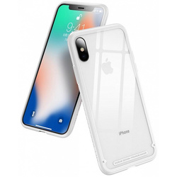 Чехол накладка для Apple iPhone Xs (Baseus See-through Glass WIAPIPH58-YS02) (белый)