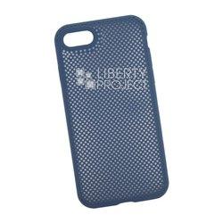 Чехол накладка для Apple iPhone 7, 8 (Silicone Dot Case) (синий) - Чехол для телефонаЧехлы для мобильных телефонов<br>Предназначен для защиты мобильного телефона от негативного воздействия внешних факторов (пыль, грязь).