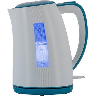 POLARIS PWK-1790-СL (белый, синий) - ЭлектрочайникЭлектрочайники и термопоты<br>Двусторонняя шкала контроля уровня воды. Безопасное открытие крышки нажатием на кнопку. Съемный фильтр для очистки воды. Внутренняя подсветка.
