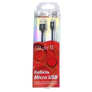 Кабель USB AM-microUSB 3м (Cablexpert CC-S-mUSB01Bk-3M) (черный) - КабелиUSB-, HDMI-кабели, переходники<br>Кабель для зарядки и синхронизации, разъемы USB AM-microUSB, тип USB 2.0, длина 3м.