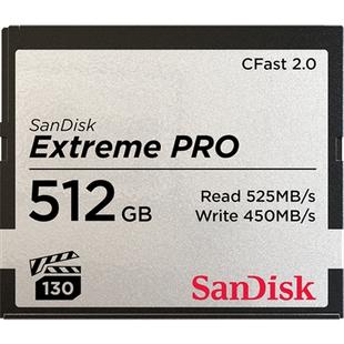 SanDisk Extreme Pro CFast 2.0 512Gb (SDCFSP-512G-G46D) - Карта флэш-памятиКарты флэш-памяти<br>Карта памяти объемом 512Гб, тип карты памяти: CFast 2.0, скорость чтения данных: 525 МБ/с