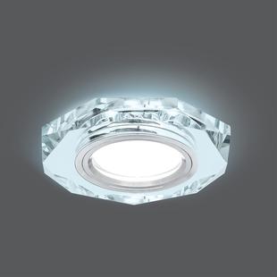 Gauss Backlight BL054 (хром) - ОсвещениеНастольные лампы и светильники<br>Светильник, цоколь GU5.3, мощность 50Вт, материал корпуса изготовлен из стекла, степень защиты IP20, диаметр/длина отверстия для установки 65мм.