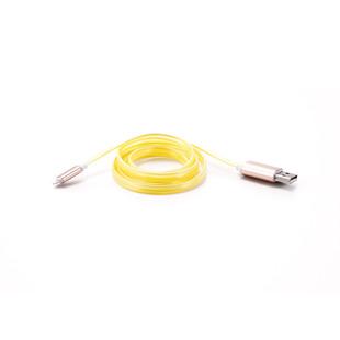 Кабель USB AM-Lightning 1м (Gmini GM-MEL300FLATY) (желтый) - КабелиUSB-, HDMI-кабели, переходники<br>Кабель со светодиодной подсветкой, тип USB 2.0, плоский, длина 1м.