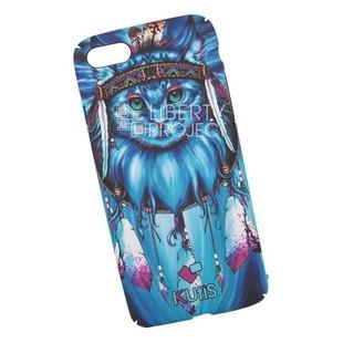 Чехол накладка для Apple iPhone 7, 8 (KUtiS Animals OK-3 0L-00040263) (голубой, рисунок кот) - Чехол для телефонаЧехлы для мобильных телефонов<br>Чехол обеспечит надежную защиту Вашего мобильного устройства от повреждений, загрязнений и других нежелательных воздействий.