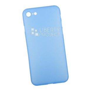 Чехол накладка для Apple iPhone 7, 8 (LP 0L-00039800) (синий, матовый) - Чехол для телефонаЧехлы для мобильных телефонов<br>Чехол обеспечит надежную защиту Вашего мобильного устройства от повреждений, загрязнений и других нежелательных воздействий.