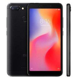 Xiaomi Redmi 6 3/64GB (черный) ::: - Мобильный телефонМобильные телефоны<br>Смартфон Xiaomi Redmi 6 3/64GB - GSM, LTE-A, смартфон, Android 8.1, вес 145 г, ШхВхТ 71.5x147.5x8.3 мм, экран 5.45quot;, 1440x720, Bluetooth, Wi-Fi, GPS, ГЛОНАСС, фотокамера 12 МП, память 64 Гб, аккумулятор 3000 мА?ч