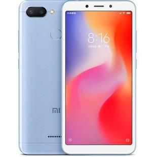 Xiaomi Redmi 6 3/64GB (голубой) ::: - Мобильный телефонМобильные телефоны<br>Смартфон Xiaomi Redmi 6 3/64GB - GSM, LTE-A, смартфон, Android 8.1, вес 145 г, ШхВхТ 71.5x147.5x8.3 мм, экран 5.45quot;, 1440x720, Bluetooth, Wi-Fi, GPS, ГЛОНАСС, фотокамера 12 МП, память 64 Гб, аккумулятор 3000 мА?ч