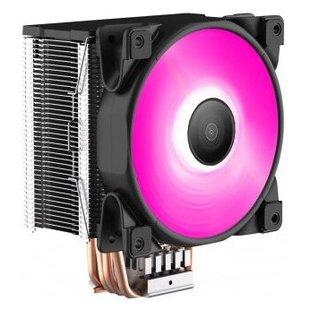 Кулер для процессора PCcooler GI-D56V HALO RGB - Кулер, охлаждениеКулеры и системы охлаждения<br>Кулер для процессора PCcooler GI-D56V HALO RGB - для процессора, socket AM2, AM2+, AM3/AM3+/FM1, AM4, FM2/FM2+, S775, S1150/1151/S1155/S1156, LGA2066, S1356/S1366, S2011, 1 вентилятор (120 мм, 1000-2000 об/мин), радиатор: алюминий, 29 дБ