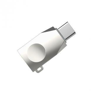 Адаптер OTG USB TypeC - USB (Hoco UA9) (серый) - Кабели