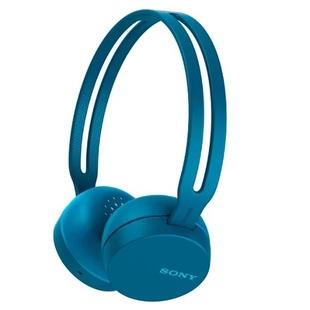 Sony WH-CH400 (синий) - НаушникиНаушники и Bluetooth-гарнитуры<br>Bluetooth-наушники с микрофоном, накладные, вес 107 г, время работы 20 ч, поддержка Bluetooth 4.2.