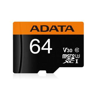 ADATA Premier Pro microSDXC UHS-I U3 V30 Class 10 (R95/W90) 64GB + SD adapter - Карта флэш-памятиКарты флэш-памяти<br>microSDXC, 64 Гб, скорость чтения 95 Мб/с, скорость записи 90 Мб/с, UHS Class 3, V30.