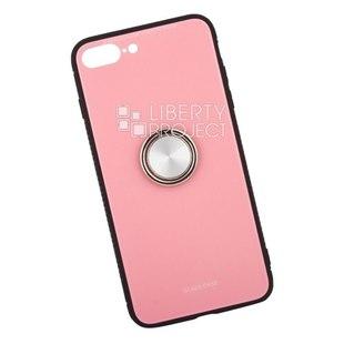 Чехол накладка для Apple iPhone 7 Plus, 8 Plus (Glass Case 0L-00040394) (розовый) - Чехол для телефонаЧехлы для мобильных телефонов<br>Чехол предназначен для защиты мобильного телефона от негативного воздействия внешних факторов (пыль, грязь).