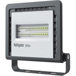 Navigator NFL-01-30-6,5K-LED (черный) - ФонарьФонари<br>Светодиодный прожектор, мощность 30Вт, материал корпуса: алюминий, материал плафона: пластик, степень защиты: IP65, световой поток: 2400 лм, цветовая температура: 6500 К.