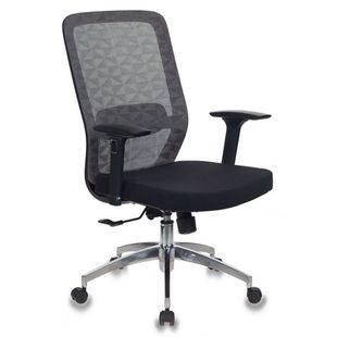 Бюрократ MC-715/KF-4/26-B01 (серый) - Стул офисный, компьютерныйКомпьютерные кресла<br>Синхромеханизм качания с фиксацией в любом положении. Поясничная поддержка спины. Регулировка высоты (газлифт). Подлокотники 3D. Крестовина металлическая (полированный алюминий). Наполнитель сиденья: формованный пенополиуретан. Ограничение по весу: 120 кг.